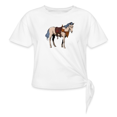 Useless the Horse png - Women's Knotted T-Shirt