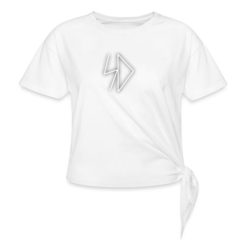 Sid logo white - Women's Knotted T-Shirt