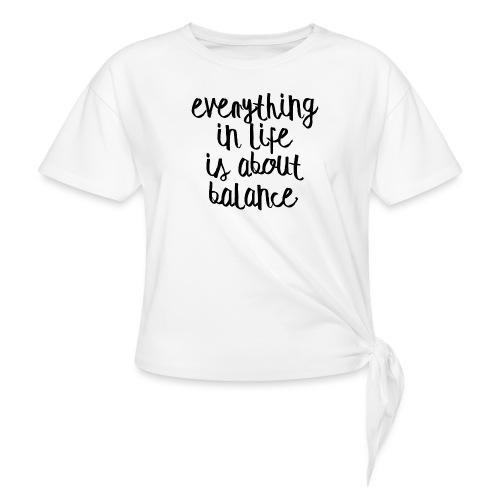 Balance - Women's Knotted T-Shirt