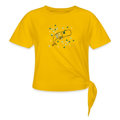 Music Whale - Women's Knotted T-Shirt