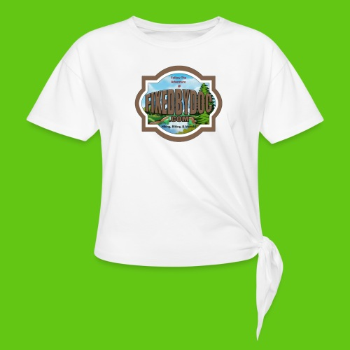 New FBD logo with words and clear background - Women's Knotted T-Shirt