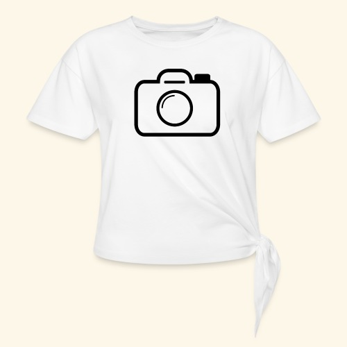 Camera - Women's Knotted T-Shirt