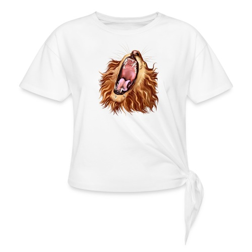 Lion's Face - Women's Knotted T-Shirt
