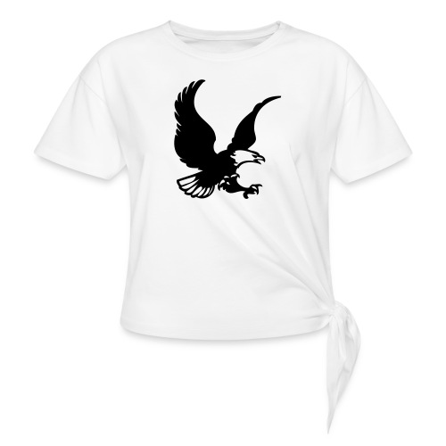 eagles - Women's Knotted T-Shirt