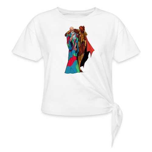 anjelicaPRO png - Women's Knotted T-Shirt