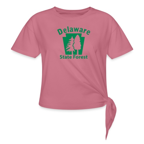 Delaware State Forest Keystone (w/trees) - Women's Knotted T-Shirt