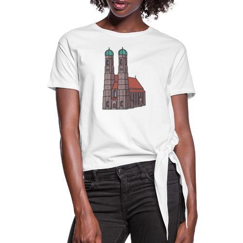 Munich Frauenkirche - Women's Knotted T-Shirt