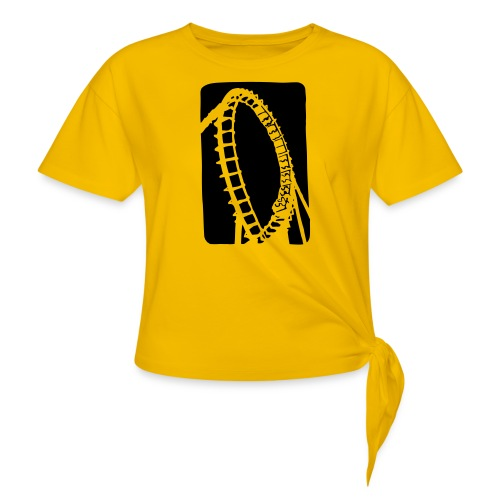 Roller Coaster - Women's Knotted T-Shirt