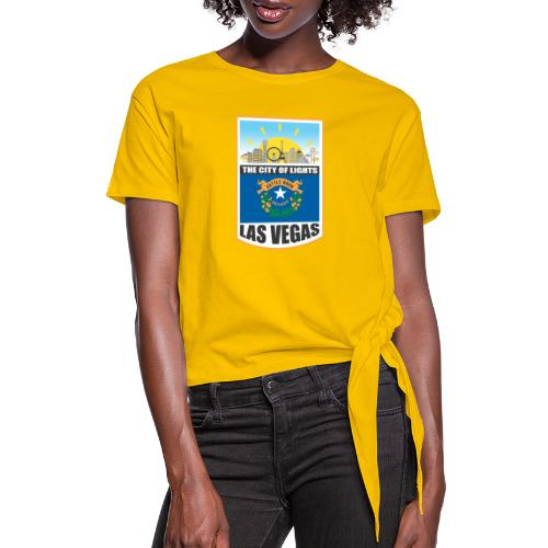 Las Vegas - Nevada - The city of light! - Women's Knotted T-Shirt