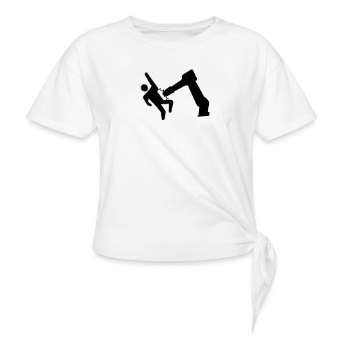 Robot Wins! - Women's Knotted T-Shirt