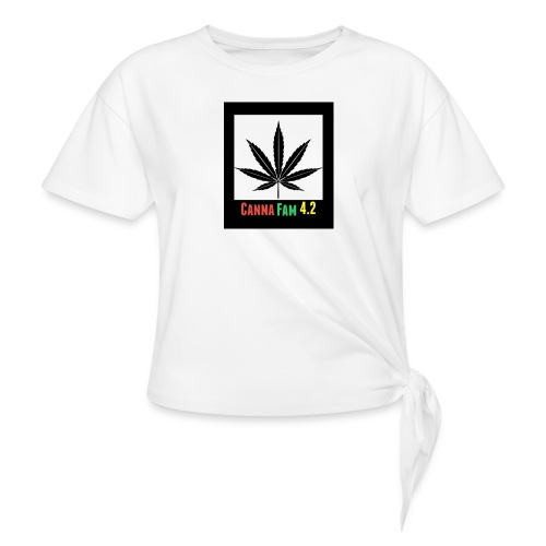 Canna Fams #2 design - Women's Knotted T-Shirt