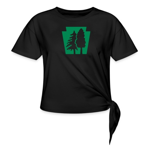 PA Keystone w/trees - Women's Knotted T-Shirt