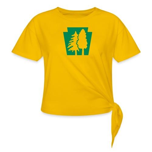 PA Keystone w/trees - Women's Knotted T-Shirt
