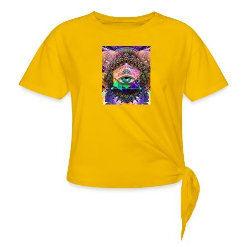 ruth bear - Women's Knotted T-Shirt
