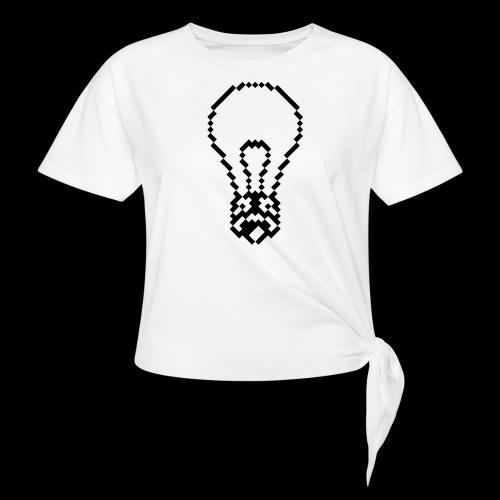 lightbulb - Women's Knotted T-Shirt