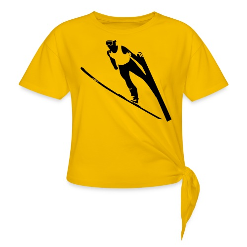 Ski Jumper - Women's Knotted T-Shirt