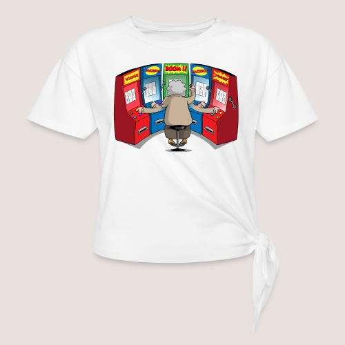 THE GAMBLIN' GRANNY - Women's Knotted T-Shirt