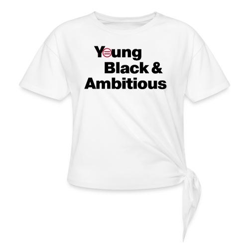 YBA white and gray shirt - Women's Knotted T-Shirt