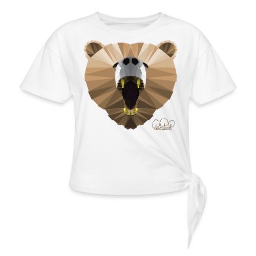 Hungry Bear Women's V-Neck T-Shirt - Women's Knotted T-Shirt