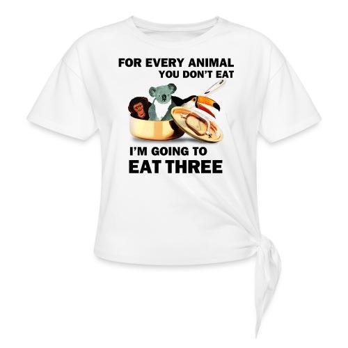 Every Animal Maddox T-Shirts - Women's Knotted T-Shirt
