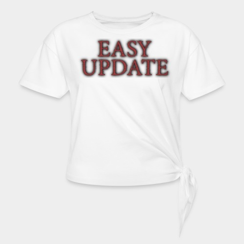 Easy Update Logo Red - Women's Knotted T-Shirt