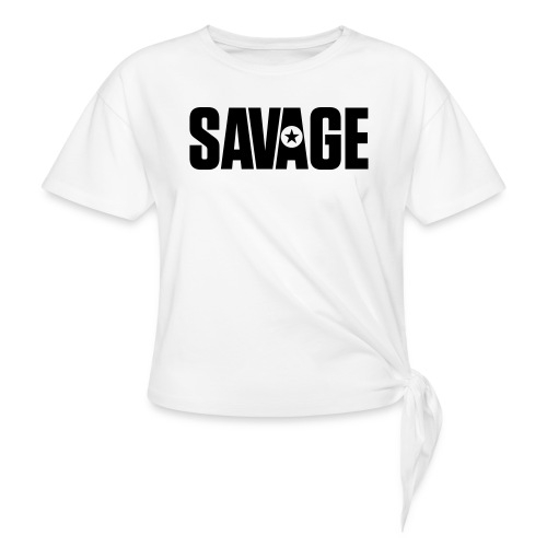 SAVAGE - Women's Knotted T-Shirt