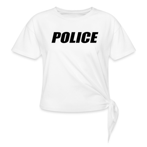 Police Black - Women's Knotted T-Shirt