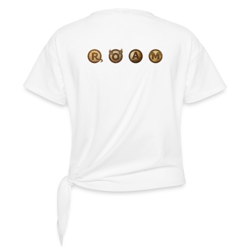 ROAM letters sepia - Women's Knotted T-Shirt