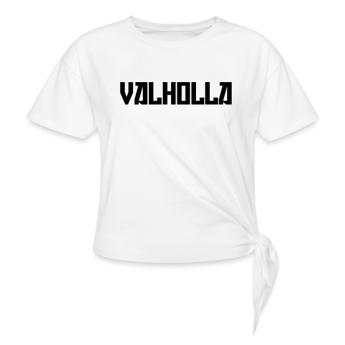 valholla futureprint - Women's Knotted T-Shirt