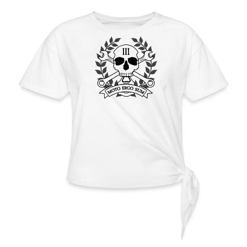 Moto Ergo Sum - Women's Knotted T-Shirt