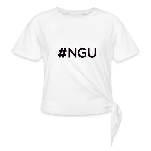 logo 11 final - Women's Knotted T-Shirt