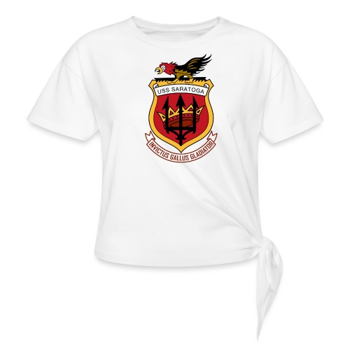 USS Saratoga CV60 - Women's Knotted T-Shirt