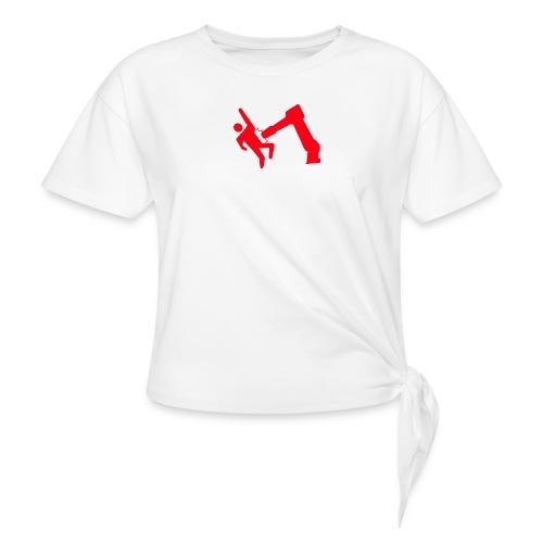 Robot Wins - Women's Knotted T-Shirt