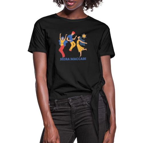 hora maccabi2 1 - Women's Knotted T-Shirt