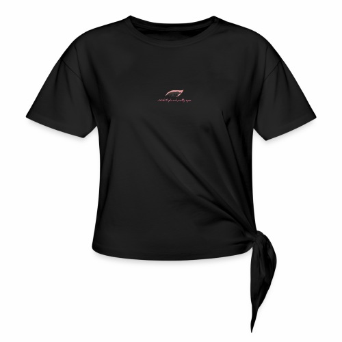 thick thighs & pretty eyes - Women's Knotted T-Shirt