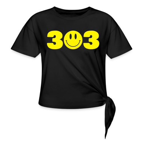 3 Smiley 3 - Women's Knotted T-Shirt