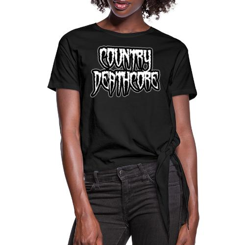 COUNTRY DEATHCORE - Women's Knotted T-Shirt