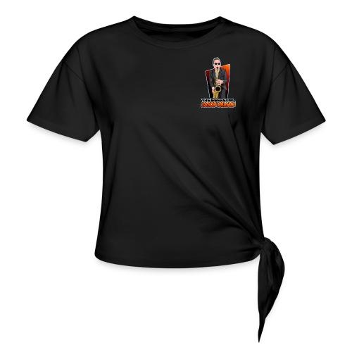 Cartoon Logo - Women's Knotted T-Shirt