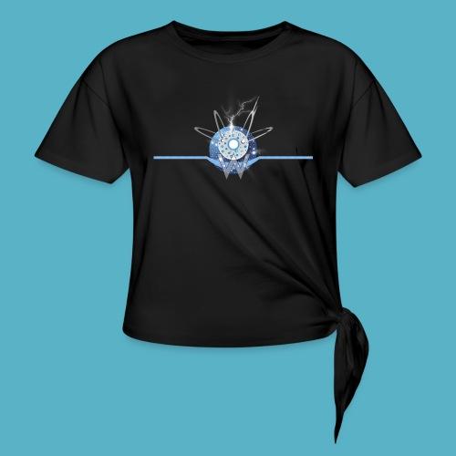 Blue Sun - Women's Knotted T-Shirt