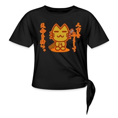 Samurai Cat - Women's Knotted T-Shirt