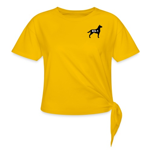 k9-1 Logo Large - Women's Knotted T-Shirt