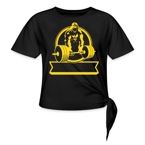 Gorilla Beast - YOUR NAME - Women's Knotted T-Shirt