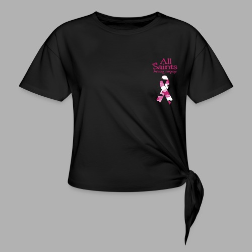 Real Men Wear Pink - Cancer Awarness - Women's Knotted T-Shirt