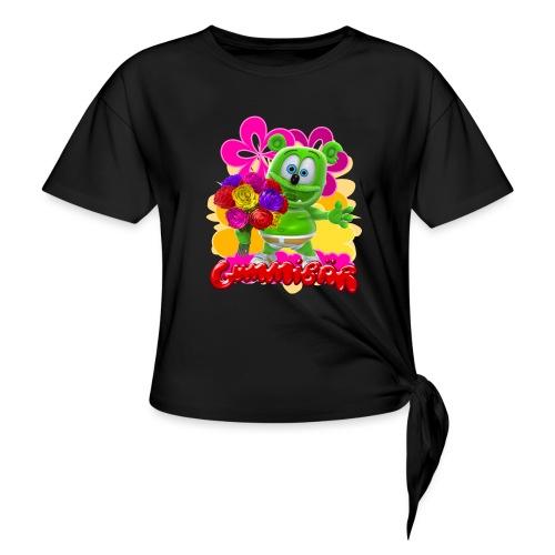 Gummibär Flowers - Women's Knotted T-Shirt