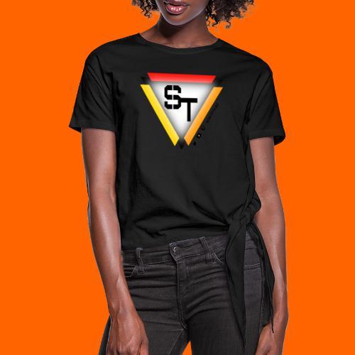 SarinTal Logo - Women's Knotted T-Shirt
