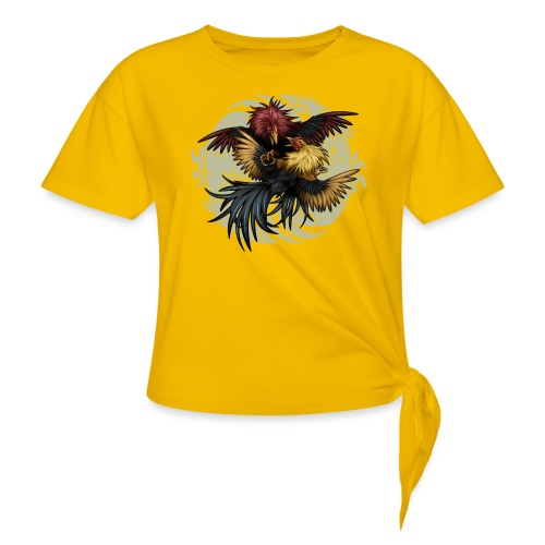 Ying Yang Gallos by Rollinlow - Women's Knotted T-Shirt