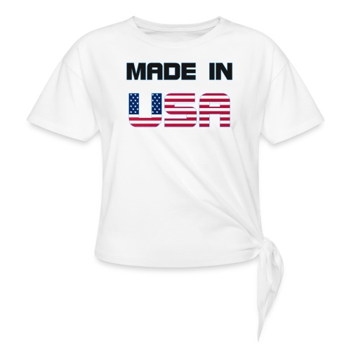 Made in USA - Women's Knotted T-Shirt