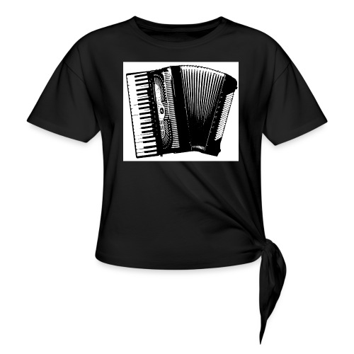 Accordian - Women's Knotted T-Shirt