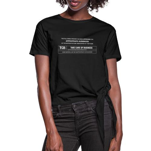 TCB Films Disclamer - Women's Knotted T-Shirt