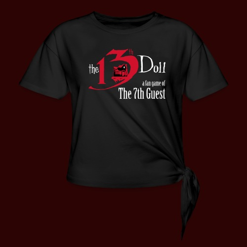 The 13th Doll Logo - Women's Knotted T-Shirt